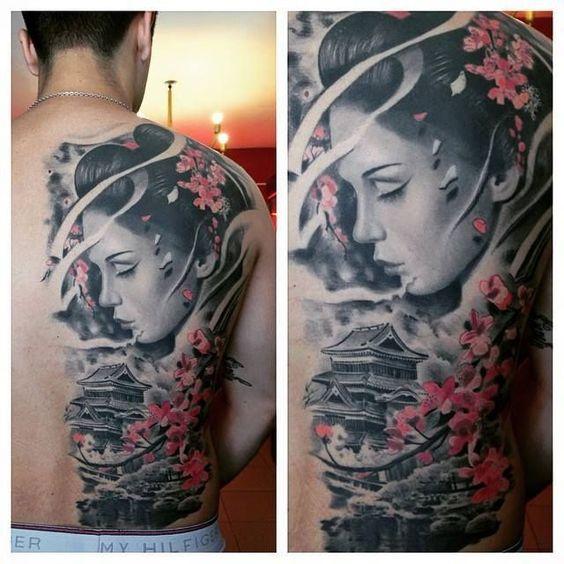 Tatuajes orientales de las geishas a los peces koi - Tattoos geishas japonesas ...